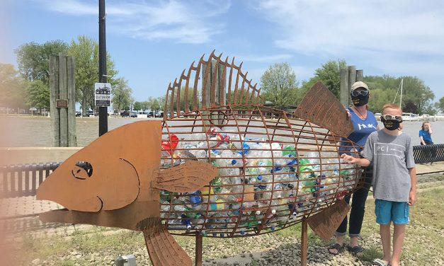 Arts Council's 'Perry,' Walleye Fest masks adorn Port Clinton