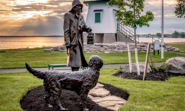 'The Lightkeeper' sculpture enhances Port Clinton Lighthouse