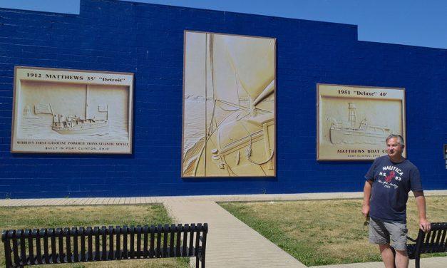 Artist Jerry Davenport debuts tribute to Matthews Boats