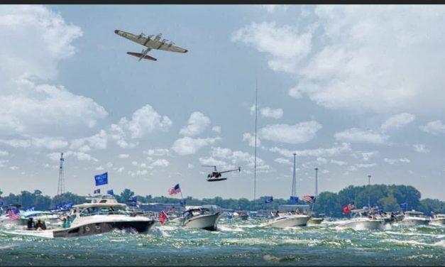 500 boat flotilla gathers in Lake Erie