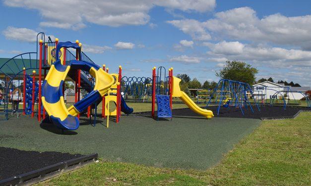 Hopfinger Zimmerman Memorial Park; Spacious Bay Twp. playground a labor of love