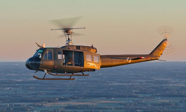 Huey at Liberty Aviation is a 'Greyhound' that flies!
