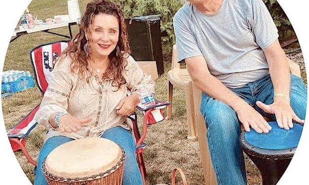 Drum Circle in Catawba benefits Ruth Ann House
