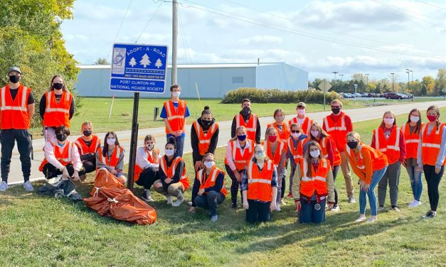 Port Clinton's National Honor Society picks up highway trash