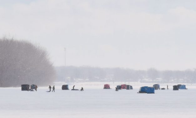 Arctic blast means ice fishing at long last
