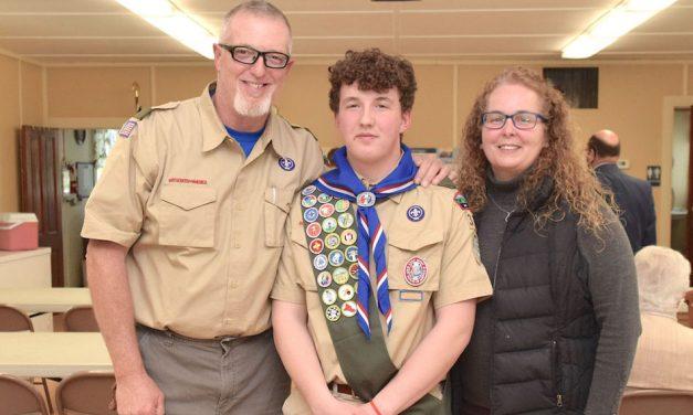 Marblehead's Nate Frattoroli earns Eagle Scout Badge