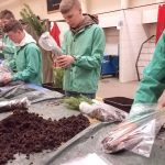 Fourth graders celebrate Earth Day, plant blue spruce around county