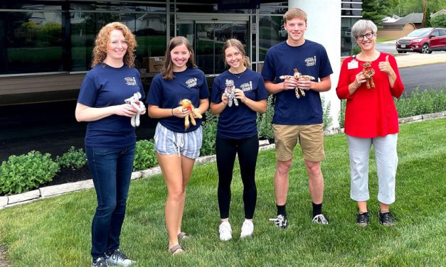 Port Clinton High students give stuffed animals to Magruder's kids