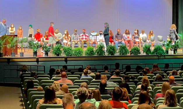 Port Clinton Middle School students in National Junior Honor Society