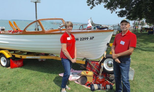 Picture perfect day at Lakeside Chautauqua for classic boats, Plein Air art