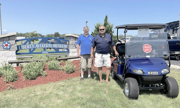 Drew's Carts helps fund Liberty Aviation Museum's Tri-Motor Project